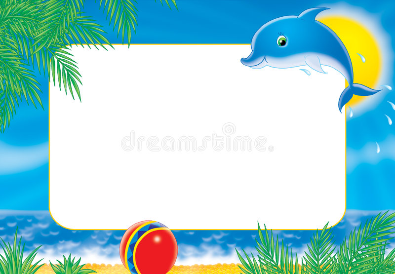 "Photo-frame ""dolphin"" stock illustration"
