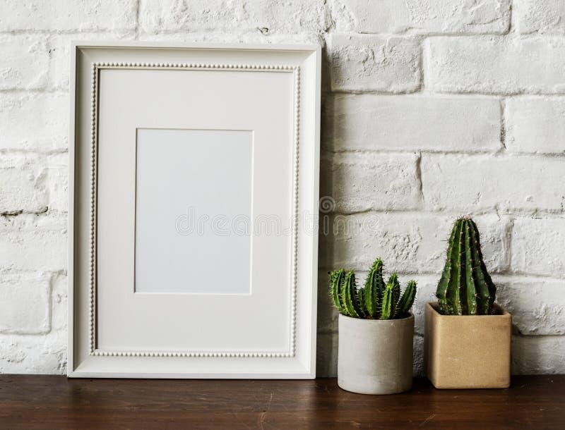 Photo frame home interior decoration royalty free stock photos