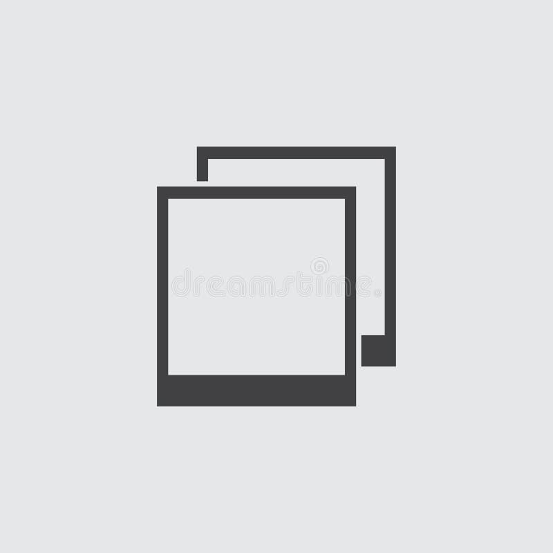 Photo frame icon in a flat design in black color. Vector illustration eps10 stock illustration