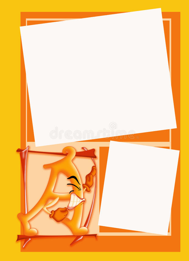Photo frame with initial stock images