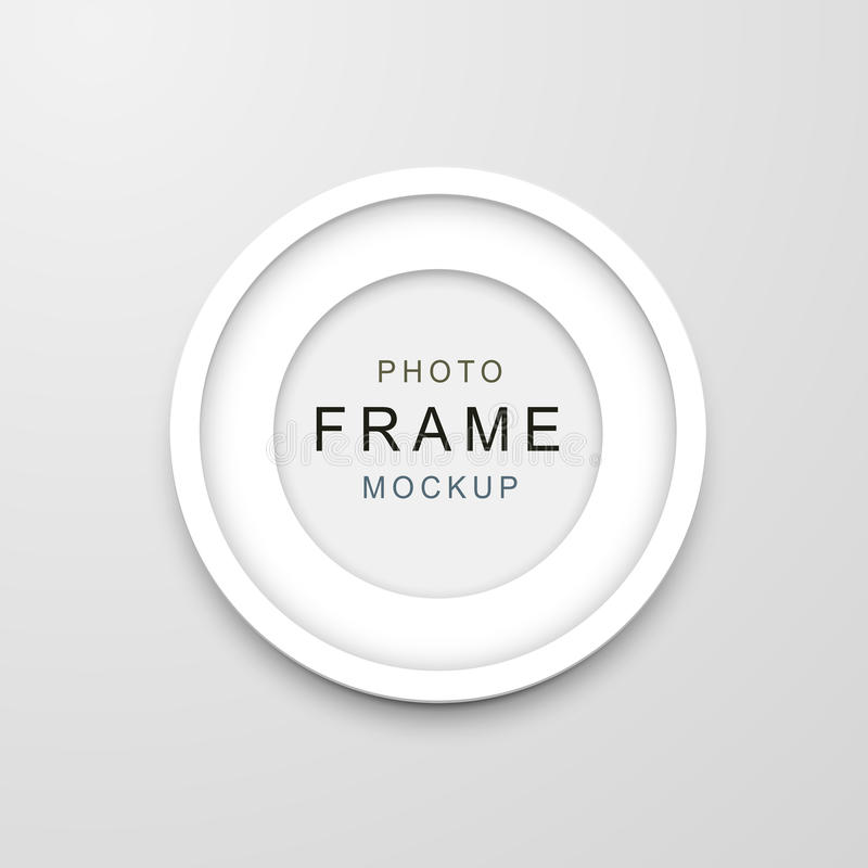 Photo frame mockup vector illustration