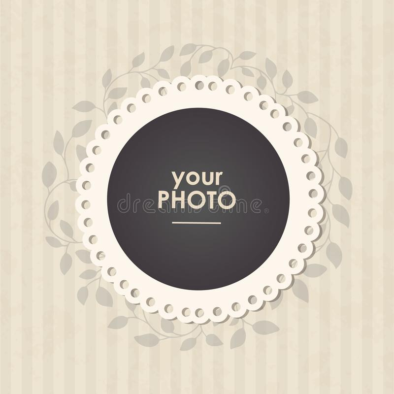 Photo frame with nice background. stock illustration
