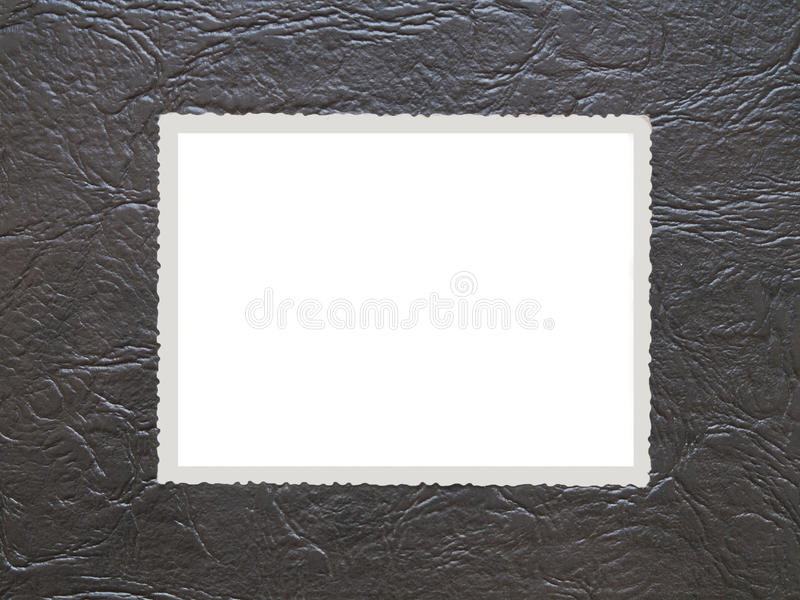 Download Photo frame on old leather stock image. Image of sample - 28959855