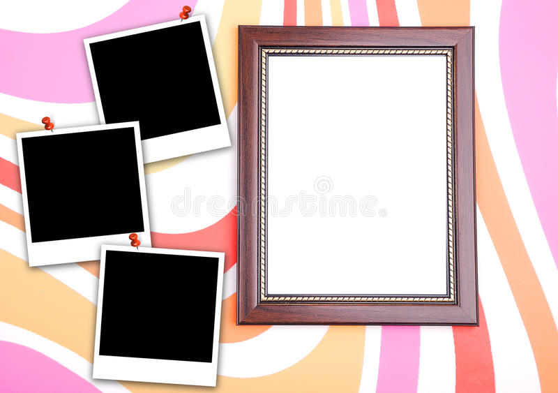 Download Photo frame with polaroid stock image. Image of wall - 12936349