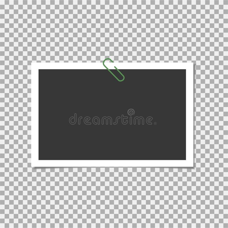 Free Photo Frame. Polaroid Frame, Vector With Pin, Staple, Paper Clip. Template. Vector Illustration Stock Photos - 139729983