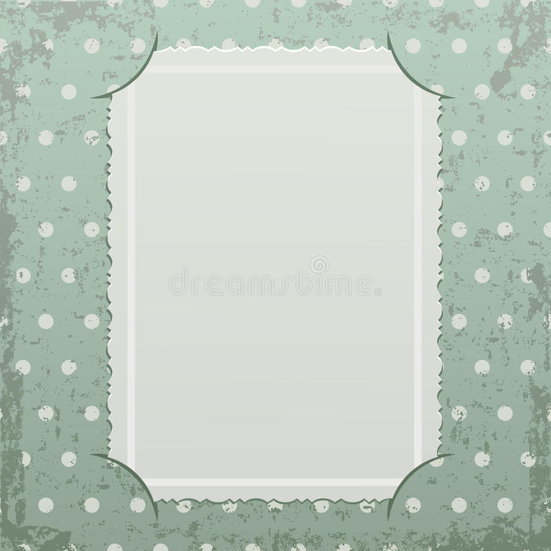 Download Photo Frame On Retro Background Stock Vector - Image: 25918826