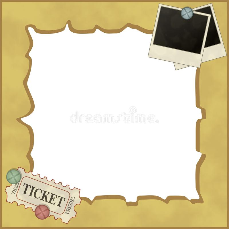 Photo frame in retro style stock photography