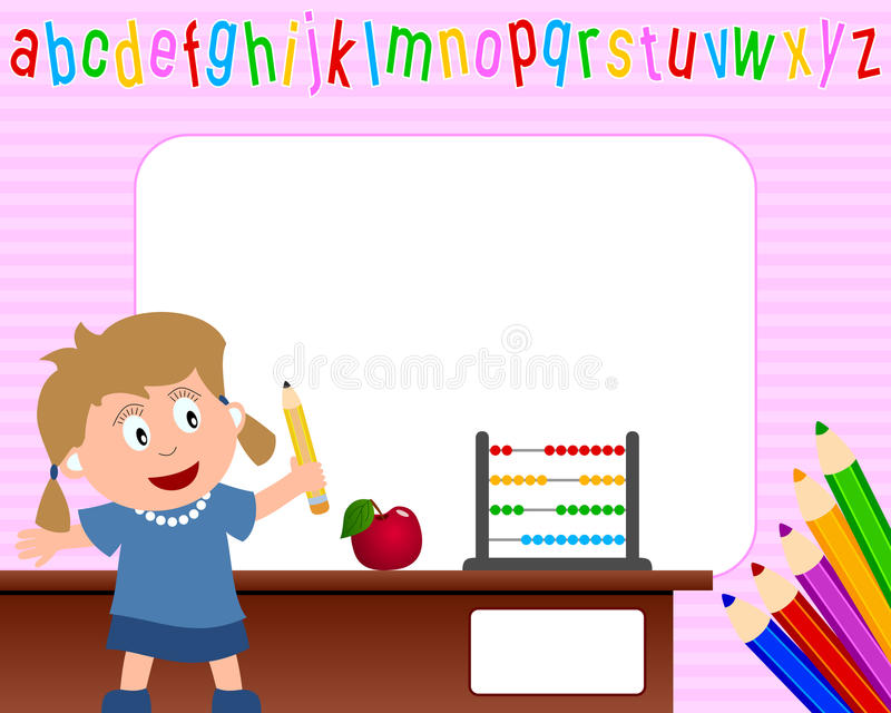 Download Photo Frame - School Girl [1] Stock Vector - Image: 10897725
