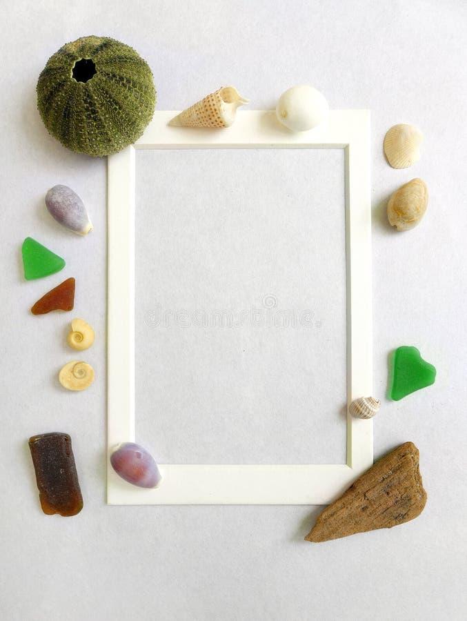 Photo frame, sea shore beach theme royalty free stock photo