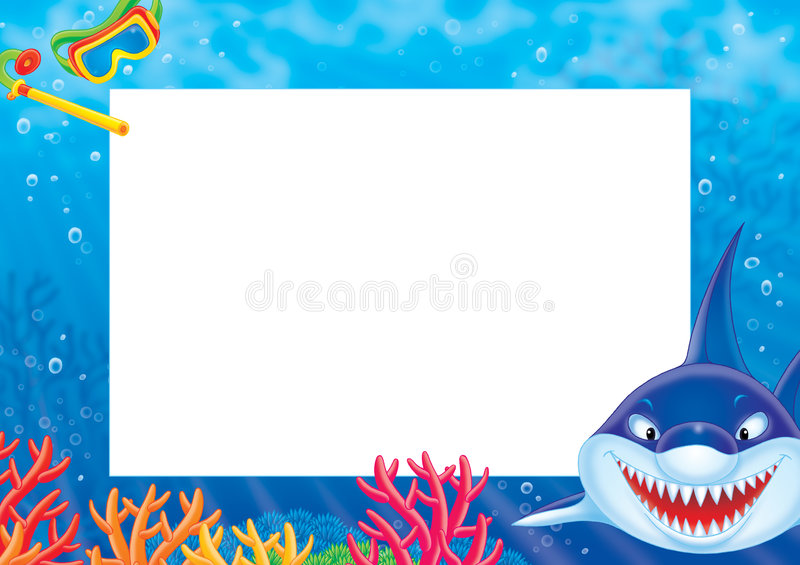 "Photo frame ""Shark"" vector illustration"