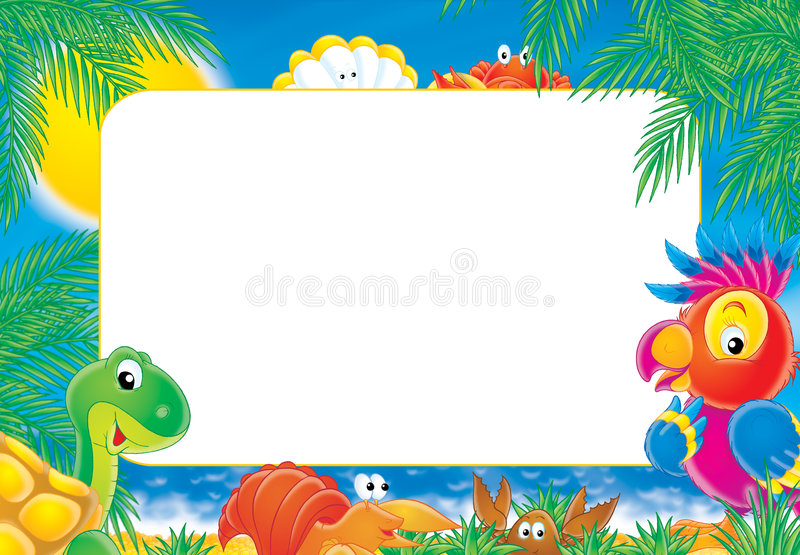 "Photo-frame ""Summer"" royalty free illustration"