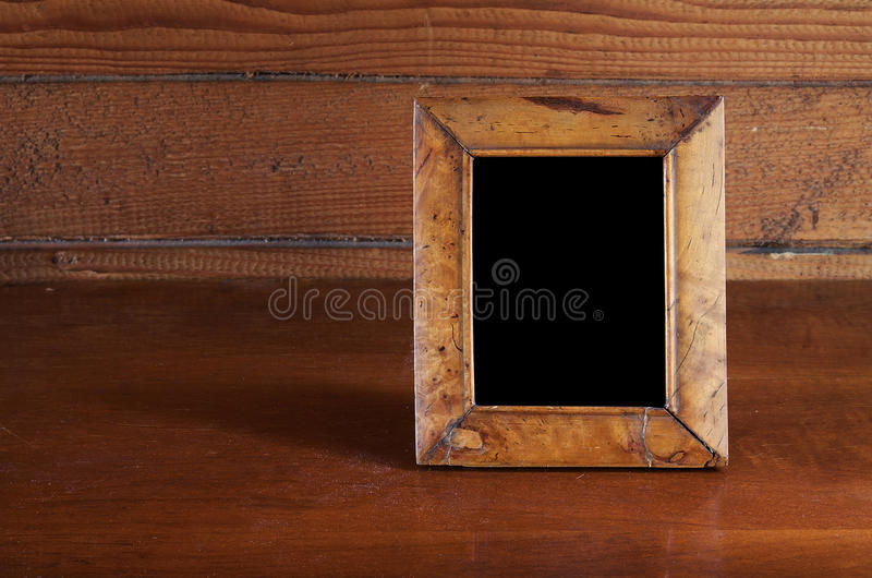 Photo frame on table royalty free stock photo