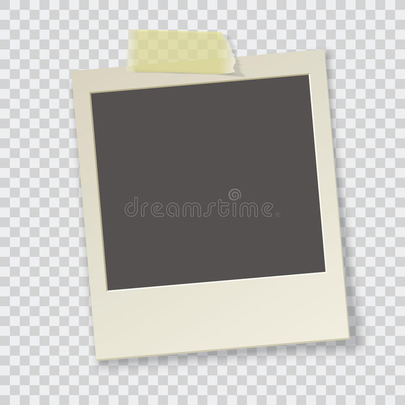 Photo frame vector. Old photo frame vector illustration royalty free illustration