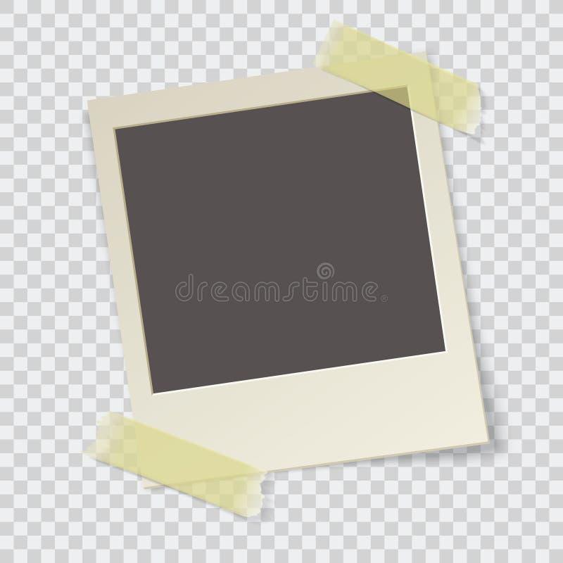 Photo frame vector. Old photo frame vector illustration stock illustration