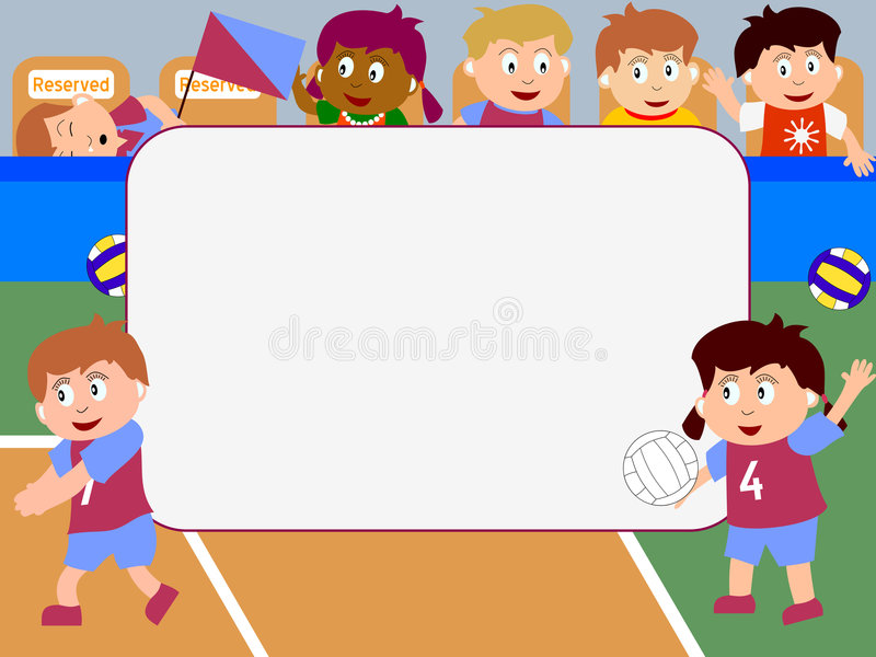 Photo Frame - Volleyball Stock Photography