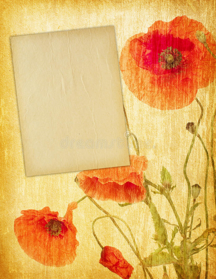 Photo frames. On vintage paper royalty free stock photography