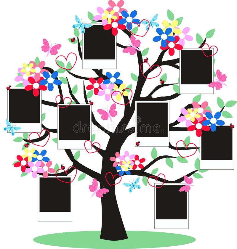 Photo frames. A fantasy tree with frames for your photos