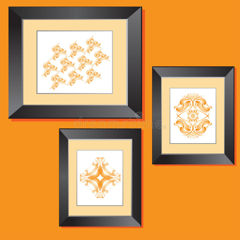 Download Photo Frames stock vector. Illustration of framework, intricate - 9521428