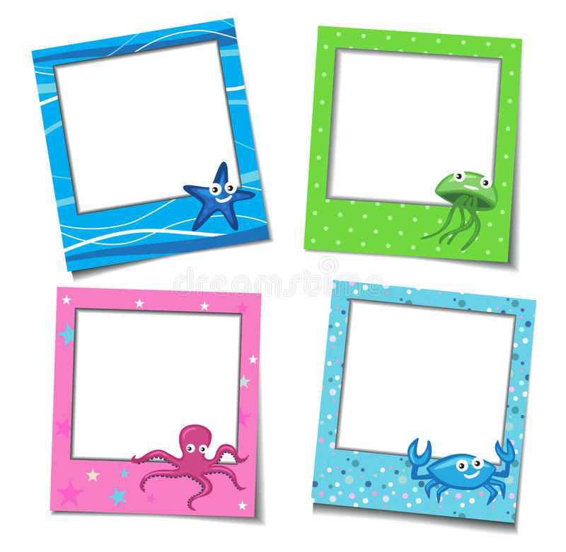 Download Photo Frames With Cartoons stock vector. Image of album - 26918095