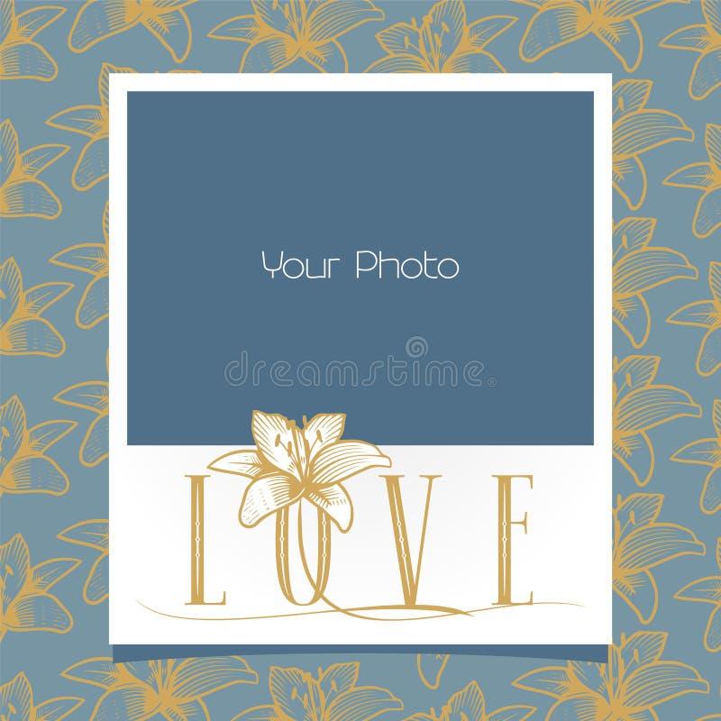 Photo frames collage vector illustration stock illustration
