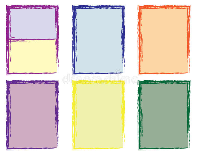 Photo frames collection royalty free stock image