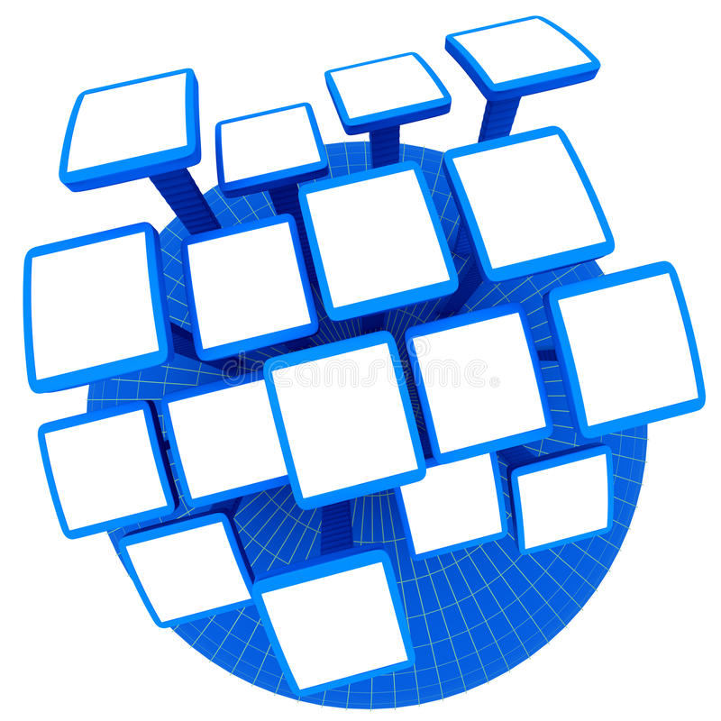 Download Photo frames on globe stock illustration. Image of empty - 26004034
