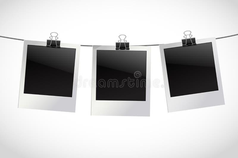 Download photo frames on rope stock vector illustration of modern 41976888