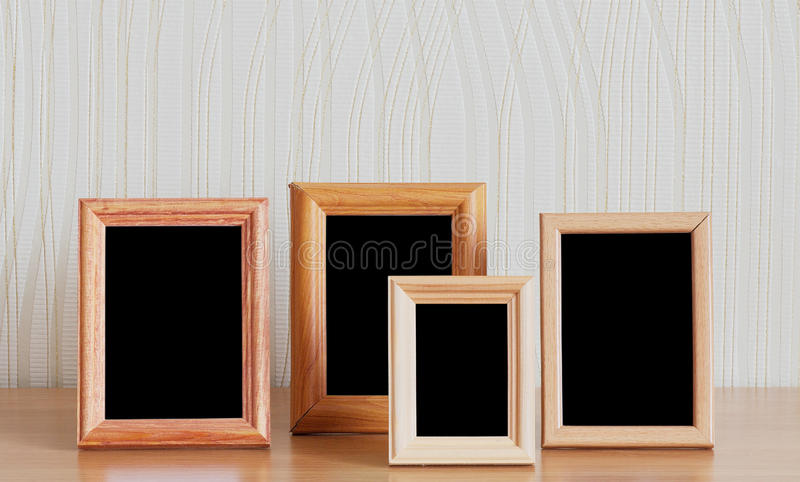 Photo frames on table stock photo. Image of indoors, space - 18253010