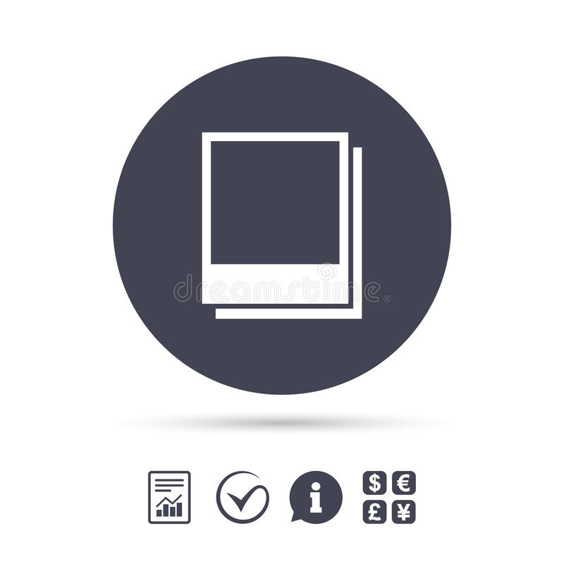 Photo Frames Template Icon. Empty Photography. Stock
