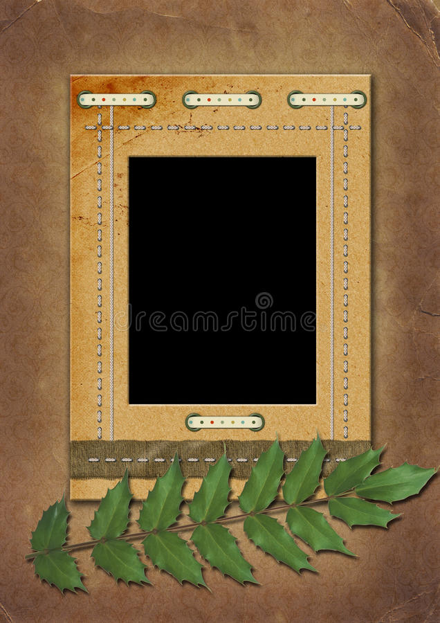 Download Photo-framework In A Retro Style Stock Illustration - Illustration: 9593495