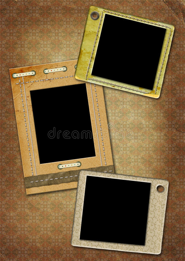 Photo-frameworks in a retro style royalty free illustration