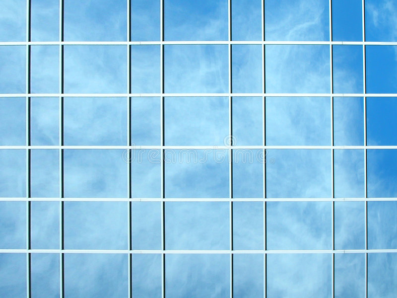 Photo of a glass building royalty free illustration