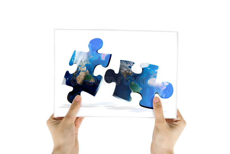 Download Photo Of Global Map Puzzles Communication Stock Photo - Image: 9409878