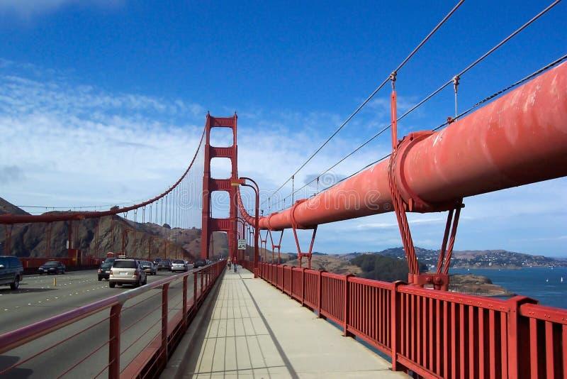 Walking the Golden Gate Bridge stock image