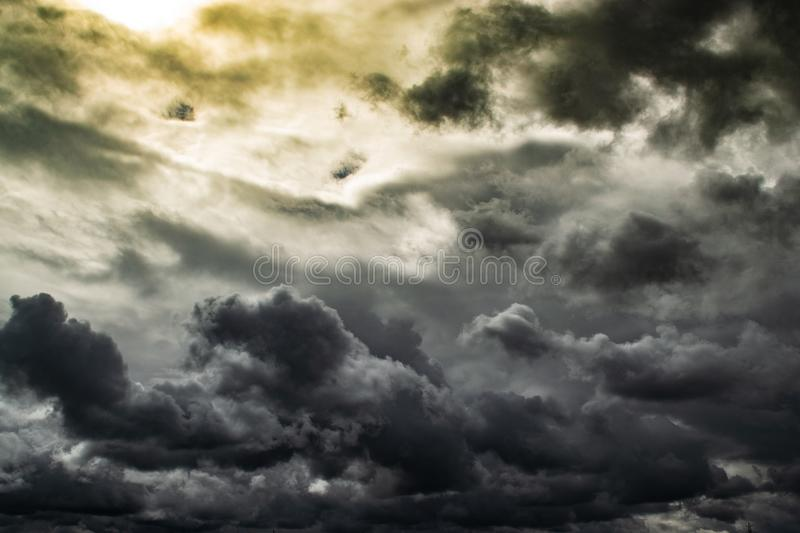 Photo of Gray Clouds royalty free stock photo