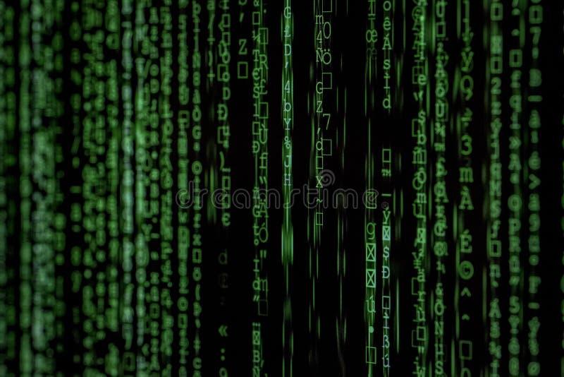 Photo of Green Data Matrix royalty free stock photography