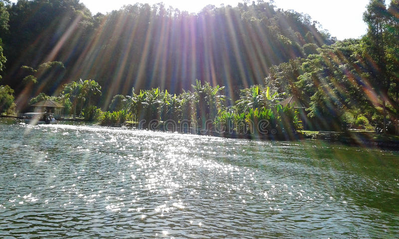 Photo Gunung Lang de lac nature image stock