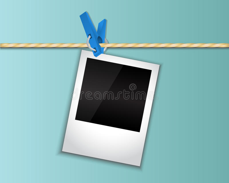 Download Photo Hanging On A Clothespin Stock Illustration - Image: 30648522