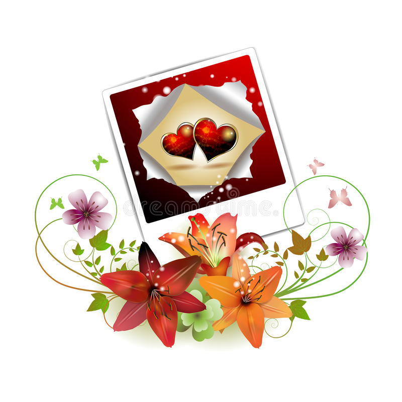 Download Photo With Hearts Stock Image - Image: 18260921