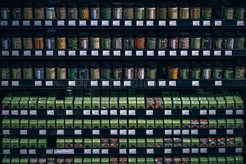 Photo of Herbs and Spices in the Grocery Store royalty free stock photos