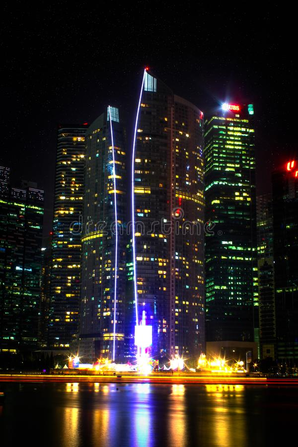 Photo Of High-rise Buildings During Night Time royalty free stock image