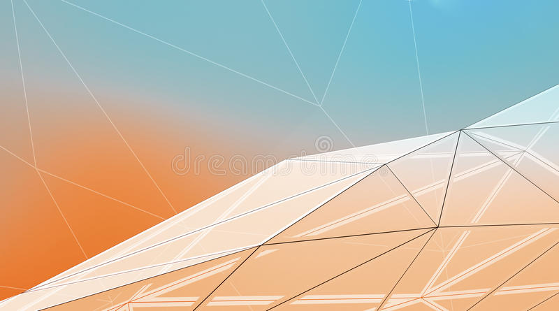 Horizontal Line Art : Photo of highly detailed multicolor background line art