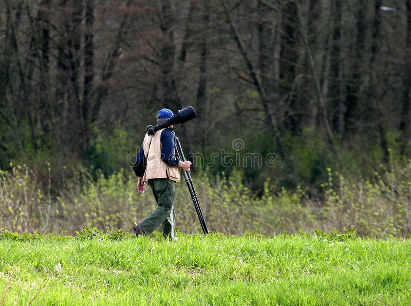Download Photo hunter stock photo. Image of tripod, lens, trail, vest - 15260