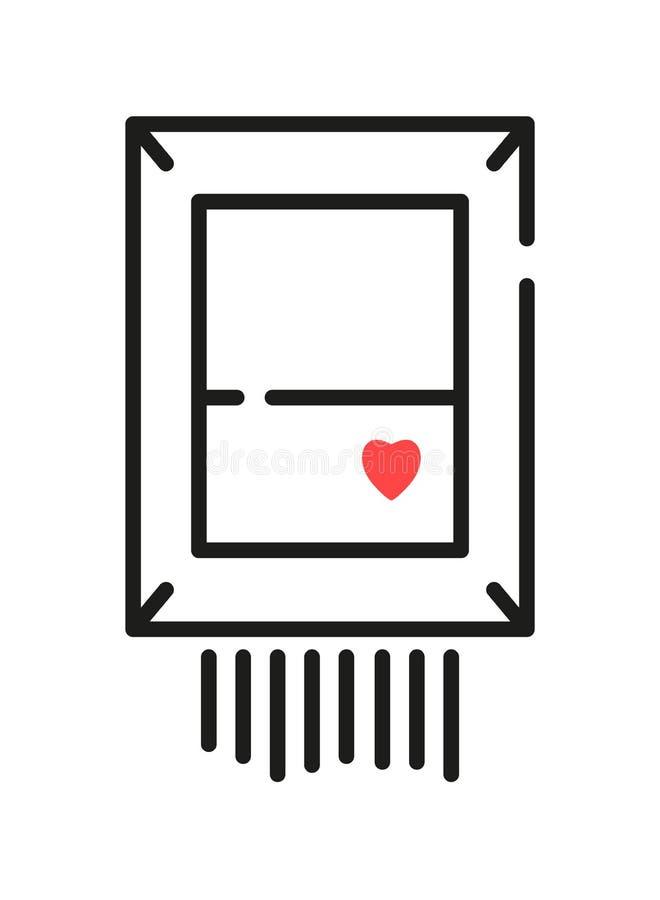 Photo, icône Le symbole de l'art moderne illustration stock