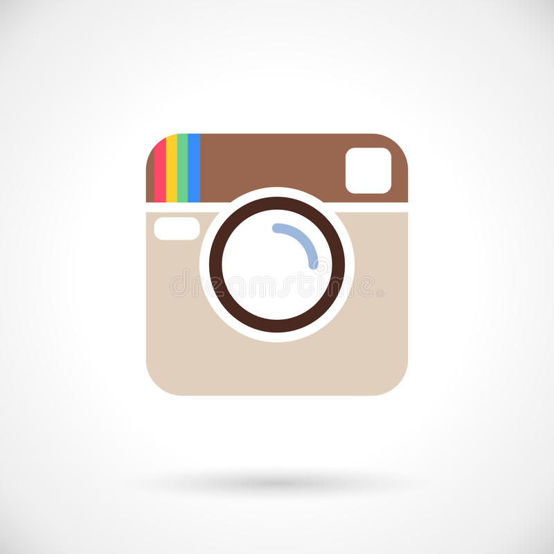 Photo icon. In instagram style on white background royalty free illustration
