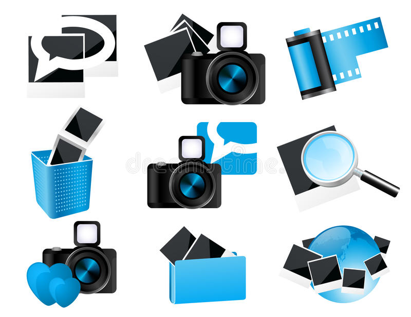 Download Photo icons stock vector. Image of photographer, heart - 14469037