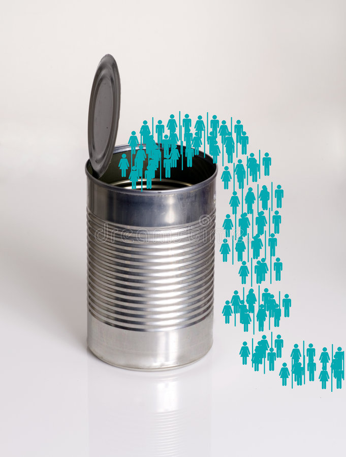 Free Photo Illustration.Clones.Green People Figures Coming Out Of A S Stock Photography - 1861022