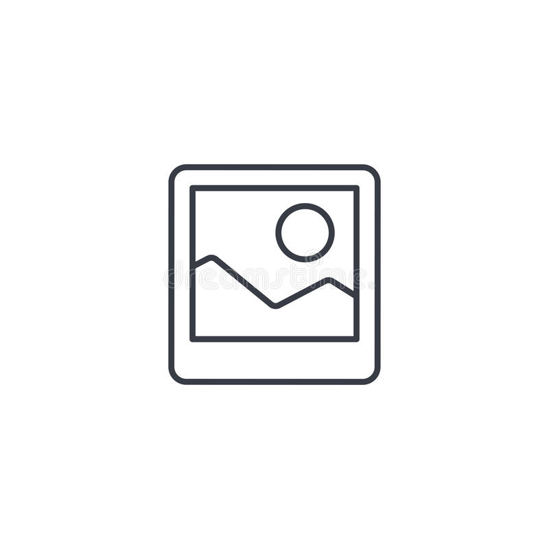 Photo image, photography file, picture gallery thin line icon. Linear vector symbol. Photo image, photography file, picture gallery thin line icon. Linear vector vector illustration