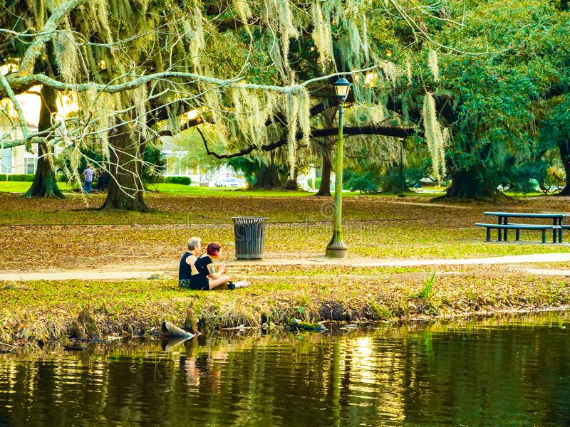 Central park new Orleans natural stock image