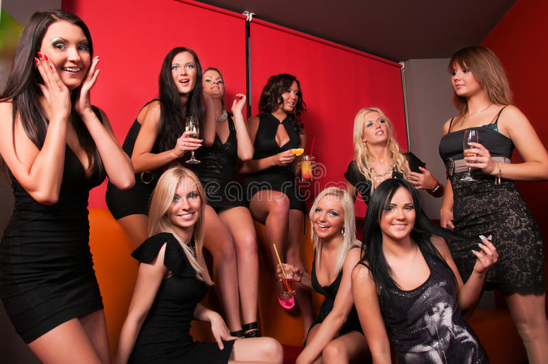 Download Photo Of Joyful Beautiful Friends On The Party Stock Image - Image: 24922715